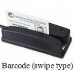 Barcode-swipe-type